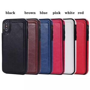 iphone X 8 7 Wallet Leather Case Card Money Slots Slim Multi-functional Folio ID Window Shockproof