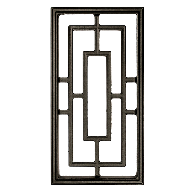 "Nuvo Iron Rectangle Aluminum Door Insert 17"" X 9"" Acw57 F..."