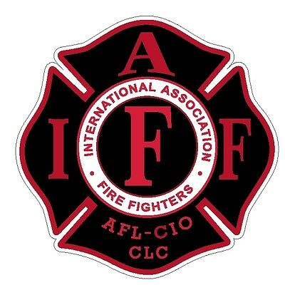 """4"""" IAFF Decal Black with Red Trim Exterior Mount Please Read Auction"""