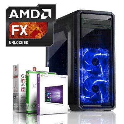 GAMING PC AMD FX-6330 6-Kerne 6x4.20GHz 16GB DDR3 256GB + 500GB SSD Windows 10