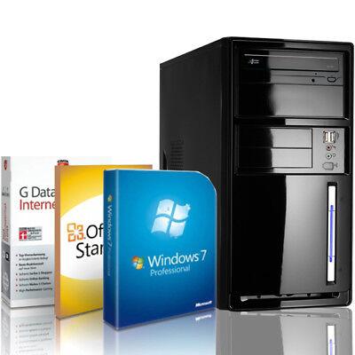 Komplett PC Intel Quad 8GB 1000GB DVD-RW USB 3.0 Windows 7 Pro Computer Rechner 8 Gb Dvd