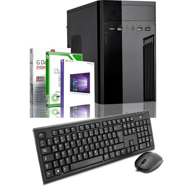 PC Quad Core Computer 4GB 320GB Rechner Komplett Windows 10 Pro Maus Tastatur