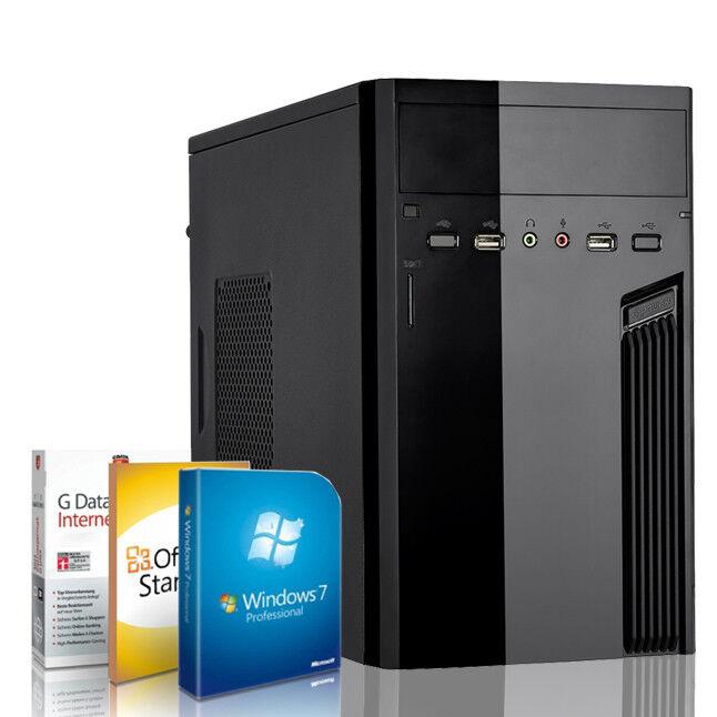 Office PC Intel D525 2GB Kingston RAM DDR3 160GB Windows 7 Pro Computer Komplett