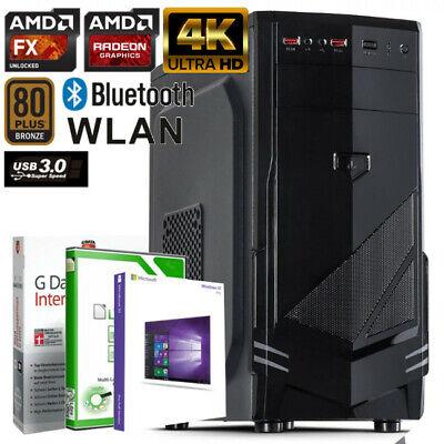 GAMER PC AMD FX-8800 8GB DDR4 500GB Radeon R7 4K GRAFIK Windows 10 WLAN Computer