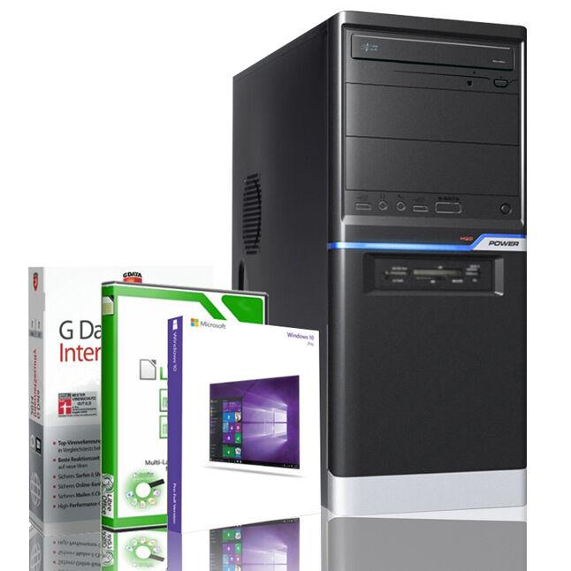 Office Komplett PC System AMD A8-5545 8GB WLAN Win 10 Rechner Computer Silence