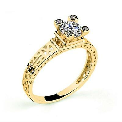 Gold Hollow Out Paris The Eiffel Tower Engagement Wedding Solitaire Ring RS28 - Eiffel Tower Ring