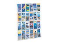 2 x Safco 24 Leaflet, Pamphlet Clear Plastic Moulded Display Unit