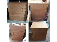 Smart 4 piece bedroom furniture set - great condition
