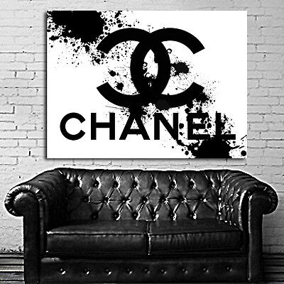 #02 Poster This Is Not Chanel Pop Art 40x54 inch (100x135 cm) on Adhesive Vinyl