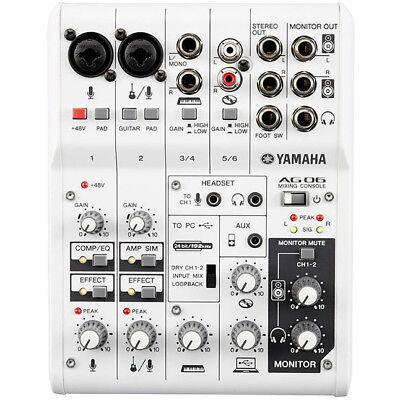 Yamaha AG06 - Mixer Kompaktmixer Mischpult AG 06 AG-06 segunda mano  Embacar hacia Spain