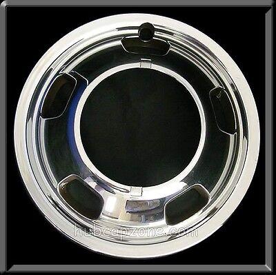 "2013 2014 Dodge Ram Truck 3500 Front 17"" Chrome Hubcap, Wheel Simulator Dually"
