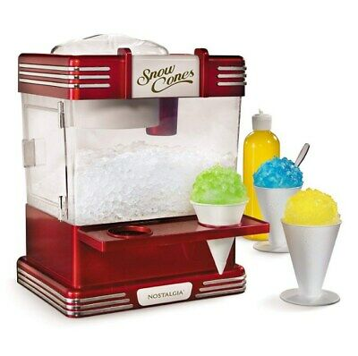 Electric Ice Crusher Shaver Machine Snow Cone Maker Shaved Best Snow Smoothie