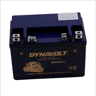 MG9-BS-C MGX9-BS DYNAVOLT NANO-GEL Motorcycle Battery Replacement YTX9-BS MBTX9U