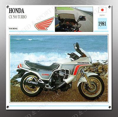 VINTAGE Honda 1981 CX 500 Turbo IMAGE BANNER NOS IMAGE REPRODUCTION