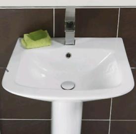 Semi pedestal sink and tap Balterley