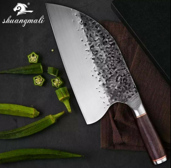 Handmade Traditional Chinese Forged Cleaver Chef Kitchen Kni