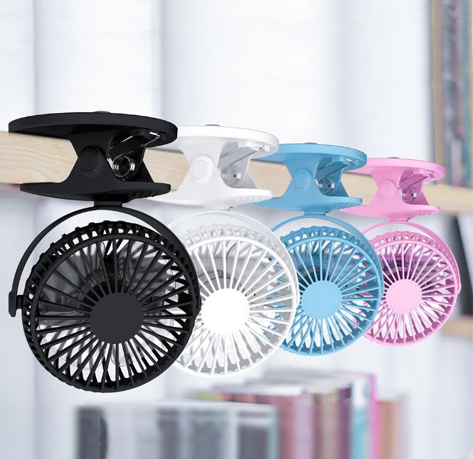 360° Mini USB Fan Rechargable Oscillating Mini Fan Clip On