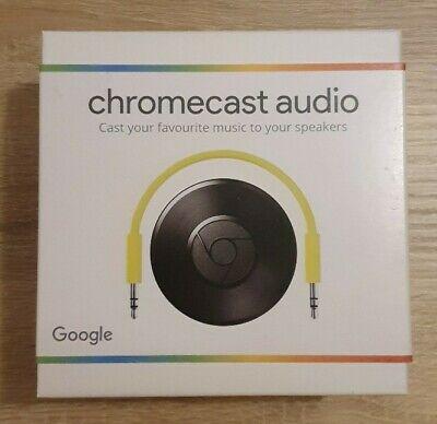 Google Chromecast Audio 2nd Generation Media Streamer - Black. Open Box, Unused.