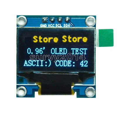 0.96 Yellow Blue I2c Iic 128x64 Oled Serial Lcd Led Display Module For Arduino