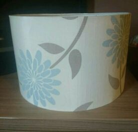 Lampshade, cream brown duck egg