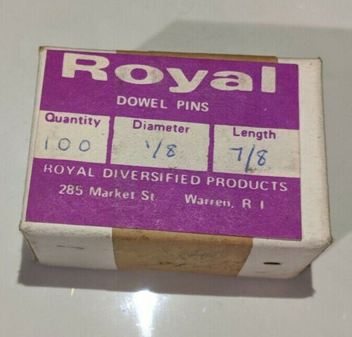 """Pack of 100 - 1/8"""" x 7/8"""" Royal Dowel Pins Alloy Steel"""