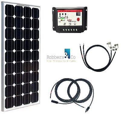 100 Watt Camping Solaranlage, 12 Volt SET, Basis Anlage für Garten und Camping