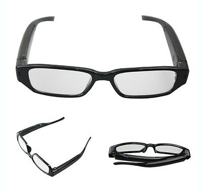 Hidden Spy Camera Glasses HD 1280x720p cam recording 8GB memory card provided