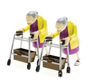Racing Grannies Wind-Up Race Toys Novelty Office Gifts