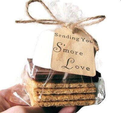 100 Sending You S'more Love Wedding Favor Kits. Includes Tags, Bags, & Ties. (Wedding Favor Kits)