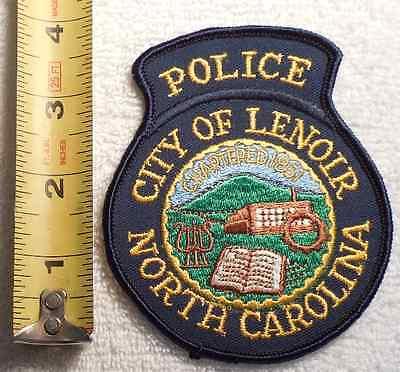 LENOIR NORTH CAROLINA POLICE PATCH (HIGHWAY PATROL, SHERIFF, STATE)