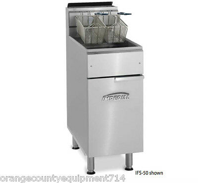 New 50 Lb Gas Fryer Stainless Steel Imperial Ifs-50 4565 Commercial Deep Fat