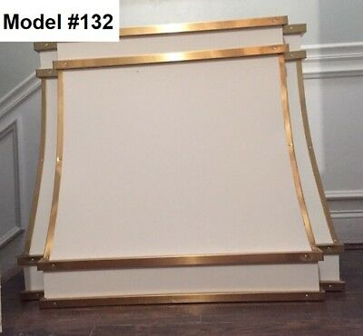 White Metal Range Hood, Vent Incl. La Cornue Hood - Model #132 for sale  Libertyville