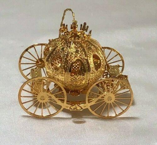 Danbury Mint 23K Gold Plated Christmas 1995 Fantasy Coach Ornament