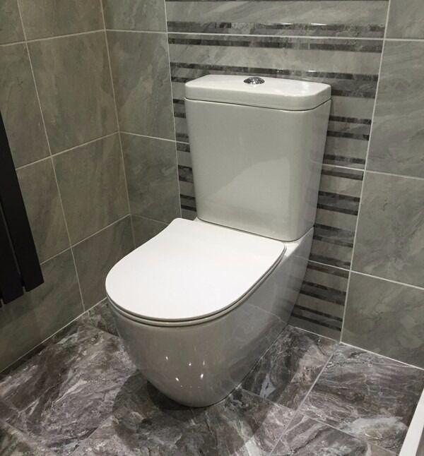 Geneva WC Toilet with Slim Soft Close Seat