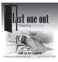 Last one out - Specialized in detail move in / move out cleaning