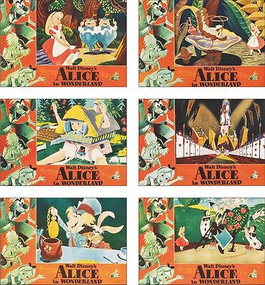 Alice In Wonderland 6 Card POSTCARD Set