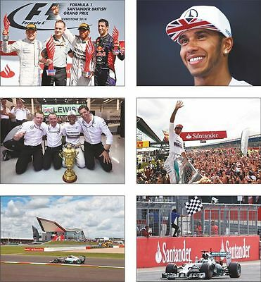 Lewis Hamilton Wins British GP 2014 Postcard Set