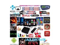 Android kodi box with sports movies and box sets