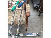 2 razor wheelie scooters