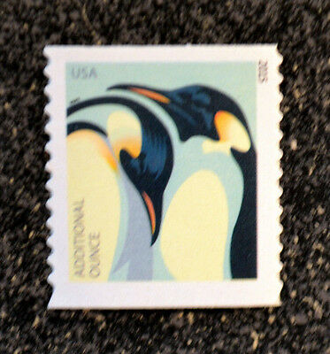 2015USA  4990  ADDITIONAL OUNCE RATE - PENGUINS  MINT NH  SINGLE FROM COIL