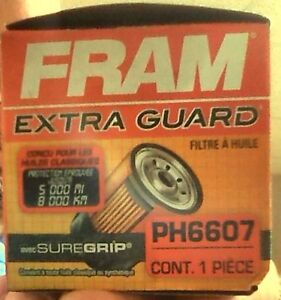 fram extra guard 6607 oil filter  - brand new in box
