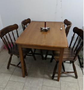 Dining table and 4 chairs available!