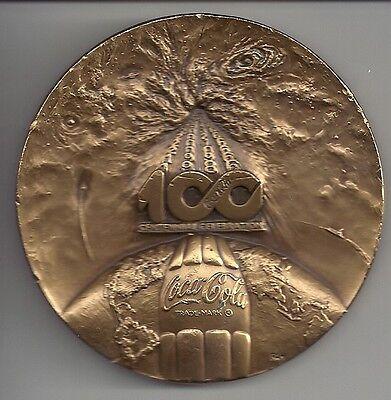 Coke Coca Cola 1986 Centennial Bronze  3  Medal Token Medallic Arts Company