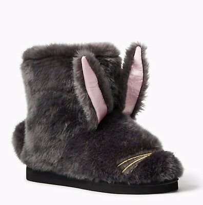 KATE SPADE NEW YORK BETHIE BUNNY BOOTIE Slippers US 7 NEW IN BOX LAST PAIR