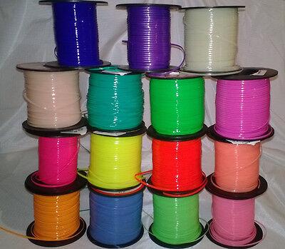 30 YDs Rexlace Gimp Boondoggle Plastic Lace ~ 15 Neon & Glow Colors~ 2 YDs Each - Plastic Lacing