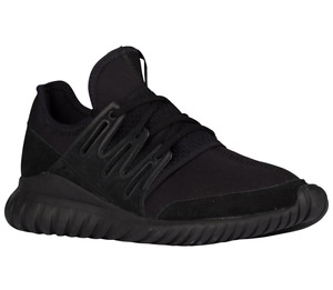 Adidas Originals Tubular Radial Triple Black 7.5 Men S80115 NEW
