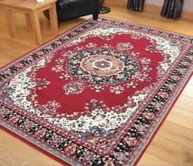 Red Medallion Design Rug