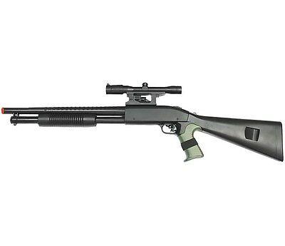 Airsoft Spring Air Pistols - SPRING AIRSOFT PUMP SHOTGUN LASER PISTOL HAND GRIP GUN AIR SCOPE w/ 6mm BB BBs