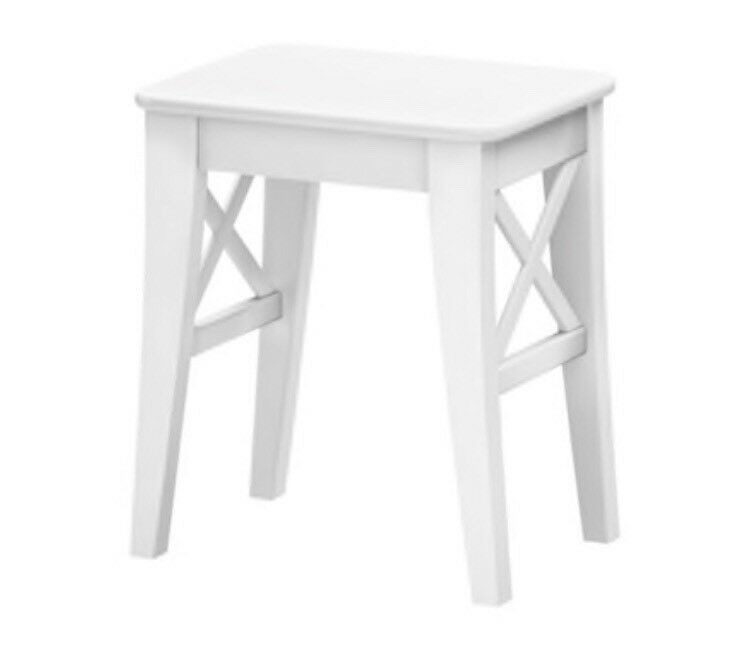 Ingolf White Ikea Stool Dressing Table Wood As New