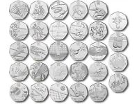Full set Olympic 50ps *VERY RARE* collectible NOW HALF PRICE!!!